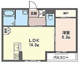 (仮)下大島町マンション[202号室]の間取り
