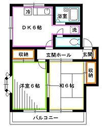 東京都国分寺市光町3丁目の賃貸アパートの間取り