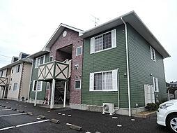 福岡県中間市朝霧2丁目の賃貸アパートの外観