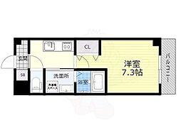 阪急宝塚本線 石橋阪大前駅 徒歩5分の賃貸マンション 2階1Kの間取り