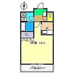 プリオール西野弐番館[1階]の間取り