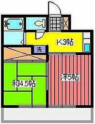 埼玉県川口市青木1丁目の賃貸マンションの間取り