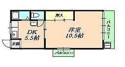 垂水ハイツ[2階]の間取り