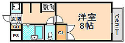 大阪府大阪市西淀川区佃3丁目の賃貸マンションの間取り
