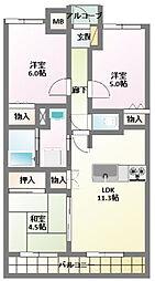 プレステージ明石藤江III[9階]の間取り