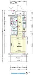 プレサンス新大阪ザ・シティ[9階]の間取り