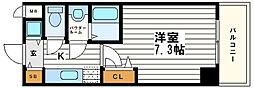 シャルマンフジ大阪城南[6階]の間取り