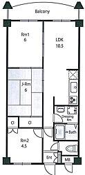 フェイム13[2階]の間取り