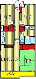 リカスコート[1階]の間取り