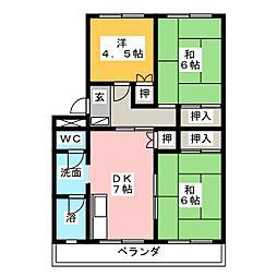 メゾンショーホー[4階]の間取り