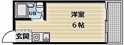 大阪府東大阪市永和3丁目の賃貸マンションの間取り
