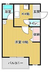 ヤングプラザMA[1階]の間取り
