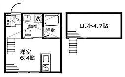 BEAMS富岡東S[1階]の間取り