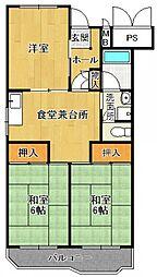宝塚安倉団地 8号棟[401号室]の間取り