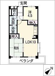 ロイヤルシティーハンター[3階]の間取り