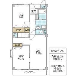 木村ロイヤルマンション II[402号室号室]の間取り