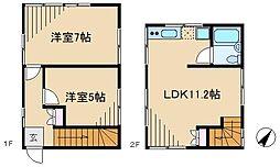 [一戸建] 東京都文京区本駒込5丁目 の賃貸【/】の間取り