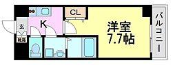 兵庫県尼崎市七松町1丁目の賃貸マンションの間取り