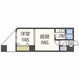 北海道札幌市白石区東札幌四条2丁目の賃貸マンションの間取り