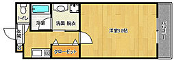 京都府京都市中京区壬生梛ノ宮町の賃貸マンションの間取り