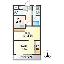 U・TOPIA HILLS[3階]の間取り