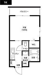 UNROOM[7階]の間取り