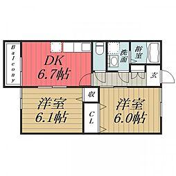 グリーンハイツイマイIII[2階]の間取り