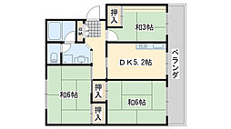 佐野湊団地2号棟[4階]の間取り
