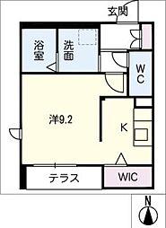 Maison M 1階ワンルームの間取り