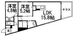 北海道札幌市中央区宮の森二条1丁目の賃貸マンションの間取り