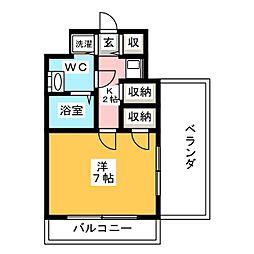 エトス高宮[12階]の間取り