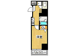 プレサンス難波WEST[2階]の間取り