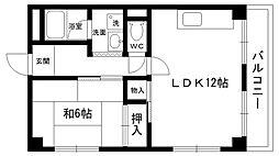 甲陽マンション[303号室]の間取り