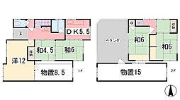 [一戸建] 兵庫県姫路市伊伝居 の賃貸【/】の間取り