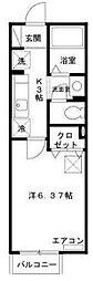愛知県名古屋市南区鯛取通1の賃貸アパートの間取り