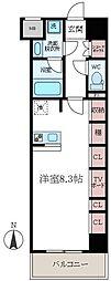 東京都墨田区千歳3丁目の賃貸マンションの間取り