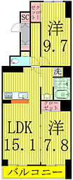 HOUSE・北柏2号棟〜ハウスキタカシワ2ゴウトウ〜[301号室]の間取り