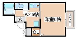 兵庫県神戸市長田区大丸町1丁目の賃貸アパートの間取り
