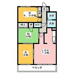 ロジュマン春日井[4階]の間取り