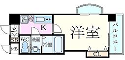 Luxe新大阪EASTII 13階1Kの間取り