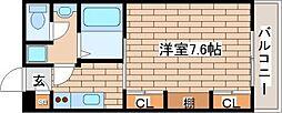 兵庫県神戸市中央区国香通2丁目の賃貸アパートの間取り