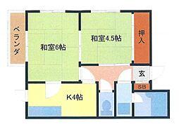 埼玉県さいたま市南区文蔵2の賃貸アパートの間取り