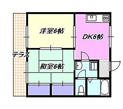ハイハイツ[1階]の間取り