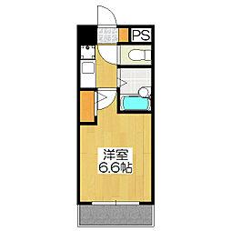 ラナップスクエア京都北野[404号室]の間取り