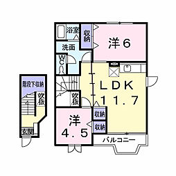 シャルマンM・K−I[203号室]の間取り