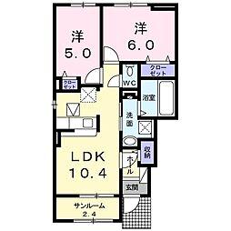 Fortuna道明寺B  (フォルトゥーナ道明寺B)[1階]の間取り