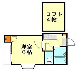 大橋メゾンBMIII[1階]の間取り