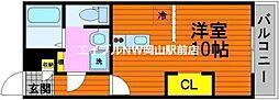 reve中島 1階ワンルームの間取り