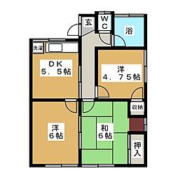 高松アパート[1階]の間取り