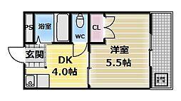 エルドムス陽光一番館[3階]の間取り